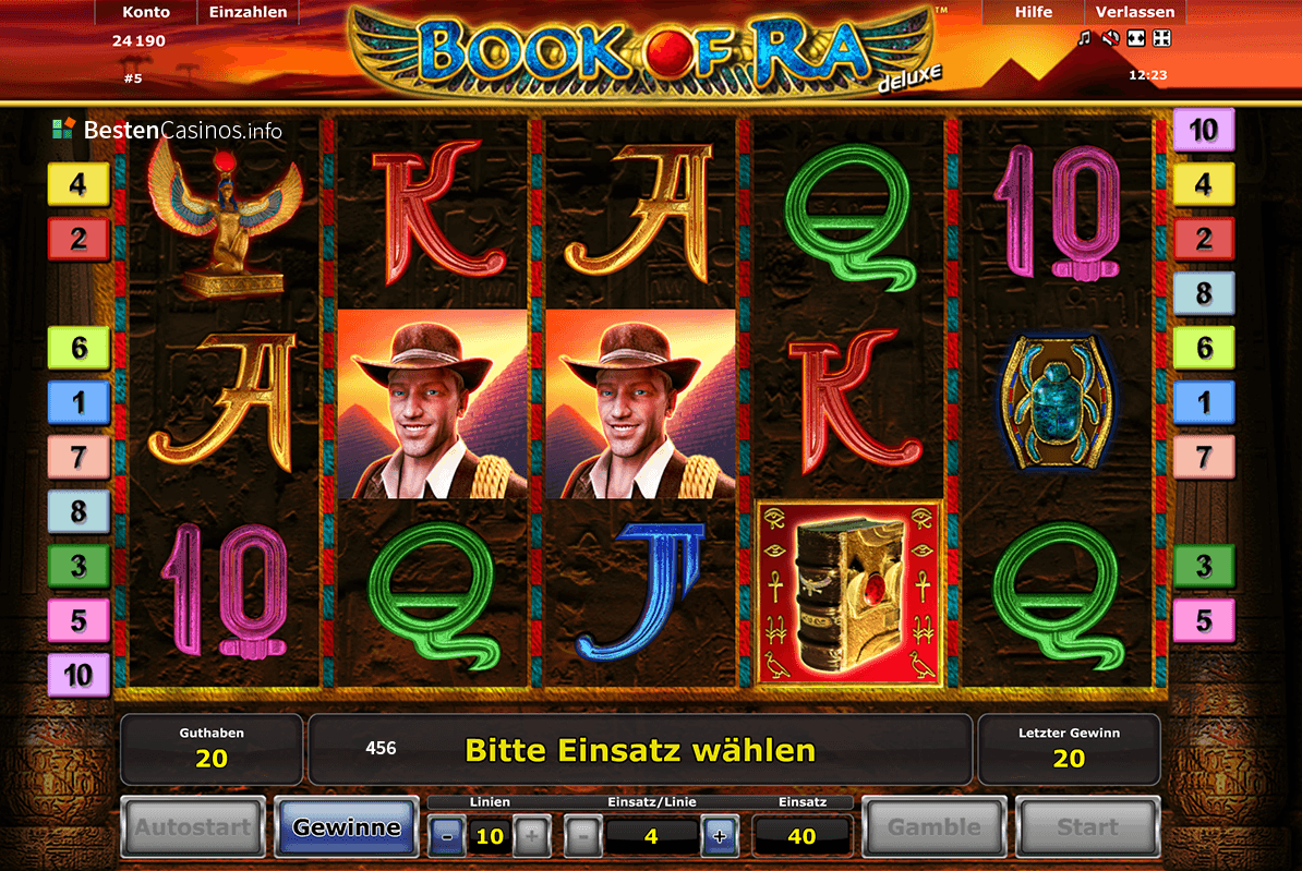 beste online casino free book of ra spielen