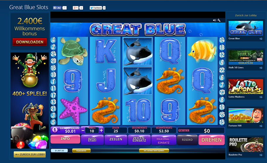 Der angesagte Spielautomat Great Blue
